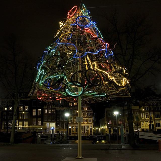 Bicycles Tree Dutch Christmas Tree Flickr Photo Sharing