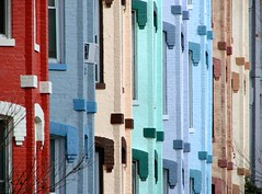 Pastel Row Houses by Ronnie R
