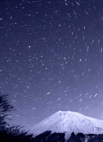 Polaris over Mt.Fuji