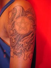 dragon with star tattoo (Dejavu Tattoo Studio Chiangmai Thailand)
