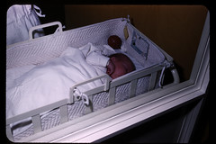 furniture, white, infant bed, bed,