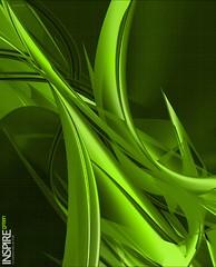 Digital Artwork - Abstract Background InspireGreen