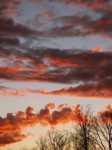 sunset clouds kentucky louisville