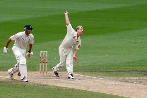 MCG Day 3 - Brett Lee at full tilt