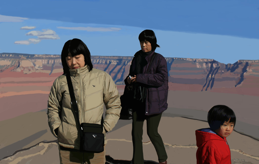 Grand Canyon Tourist with Flying Bird Jacket