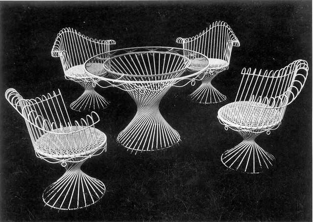 Mathieu Matégot | Salon de jardin Anthéor. Circa 1950 ...