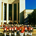 Marine Corps Drum & Bugle Corps before Hall of State, Texas State Fair