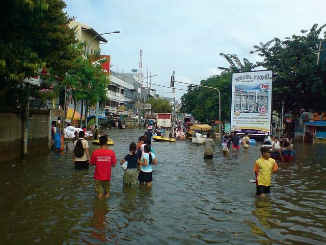 Flooded marketplace