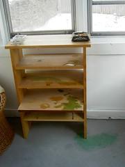 shelving, shelf, furniture, wood, room, desk,