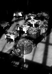 Cafe Tables In Shadow