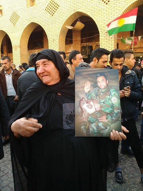 A martyrs mother, The Peshmarga will always be in our hearts.
