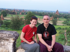 Wir in Bagan