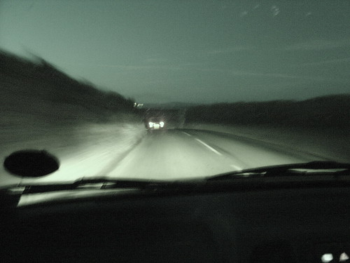 A drive at night