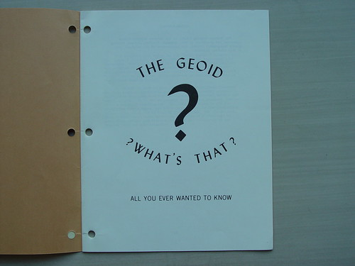 The Geoid: ?What's That?: All You Ever Wanted to Know
