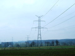 Pylons over the Ardennes