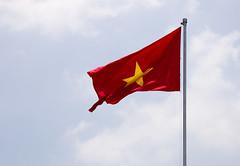 red, flag, red flag, sky,