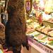 Boar hanging outside butchers, Covered Market, Oxford