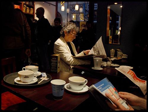 Caffe Nero - just off Briggate