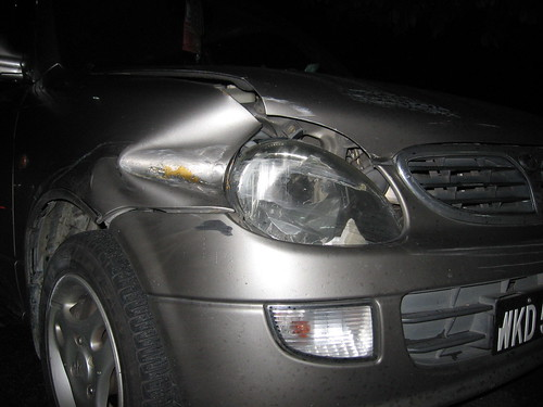 Damage car