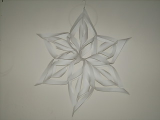 3d Snowflake made of paper
