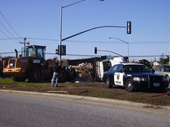 Overturned Dumptruck, Hwy 1 and 92, Half Moon Bay