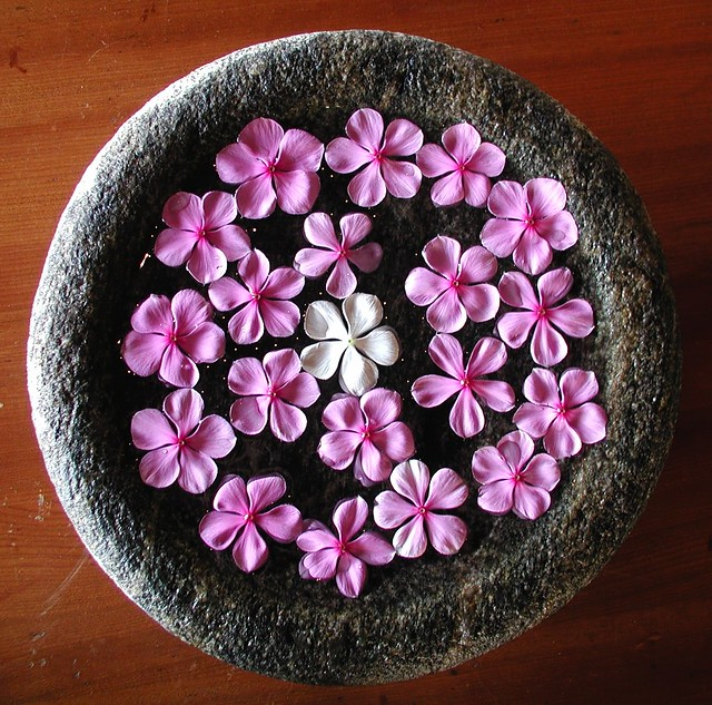 Flower bowl in a Spa