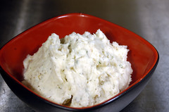 vegetable(0.0), coconut(0.0), raita(0.0), produce(0.0), breakfast(1.0), dip(1.0), food(1.0), dish(1.0), dairy product(1.0), cheese(1.0), sour cream(1.0), cottage cheese(1.0),
