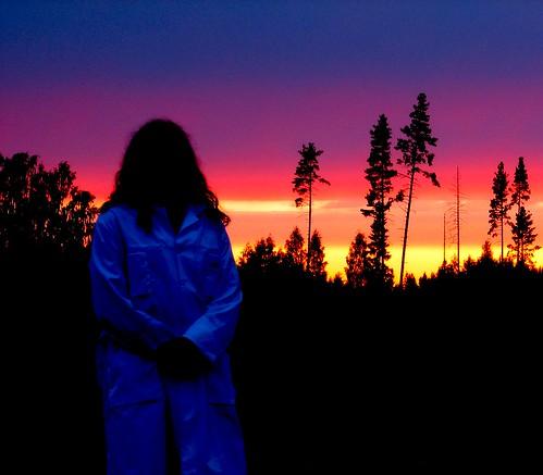 sunset summer selfportrait self whitejacket penttilänmäki