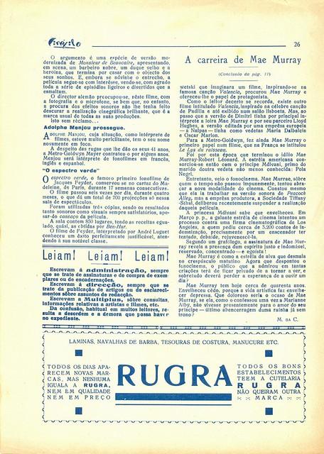 Cinéfilo, Nº 109, 1930 - 26
