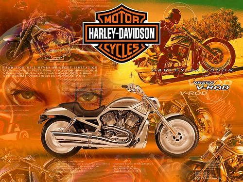 Harley-Davidson V-Rod Wallpaper