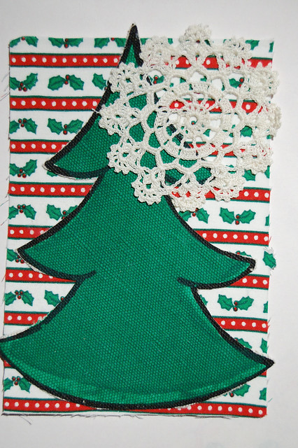 Kitschy Fabric Christmas Cards