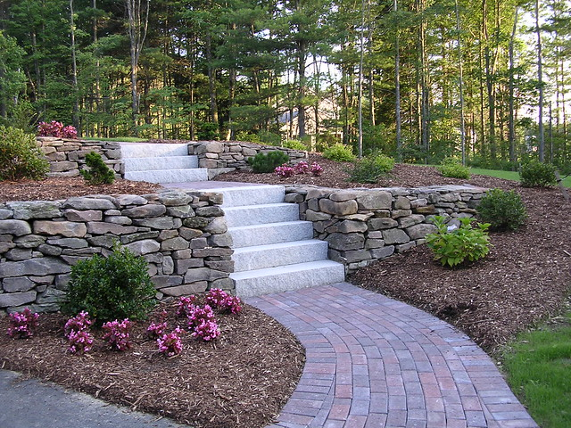 The new front walkway flickr photo sharing for Plants for walkway landscaping ideas