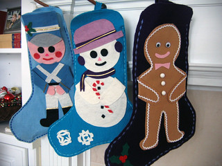 Mom-made stockings.