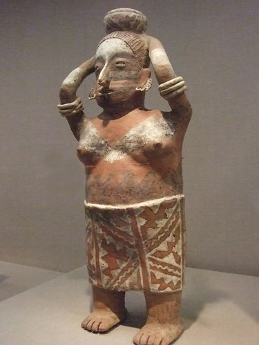 Standing female figure Nayarit West Mexico 300 BCE-300CE Earthenware (1)