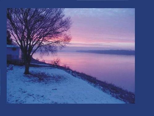 sunset ohio river evansville