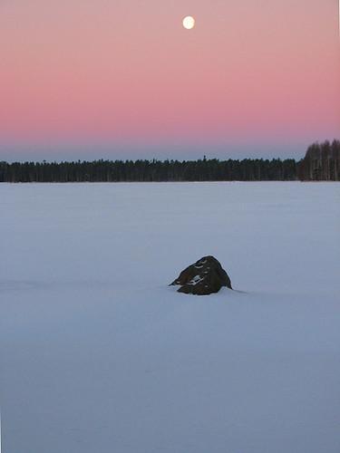 blue winter red moon lake snow cold nature stone forest suomi finland landscape january oulu lumi talvi kivi maisema metsä kuu tammikuu luonto järvi sininen punainen kuivasjärvi kylmä abigfave impressedbeauty