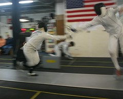 weapon combat sports(1.0), fencing weapon(1.0), individual sports(1.0), contact sport(1.0), sports(1.0), combat sport(1.0), fencing(1.0),