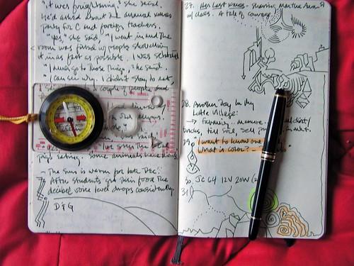exploration, moleskine