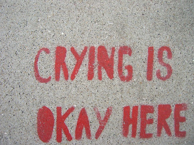 Crying is okay here. from Flickr via Wylio