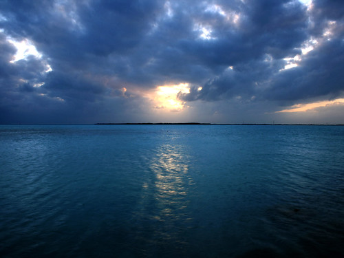 sunset sea clouds keys florida craigkey