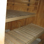 inside a Finnish sauna