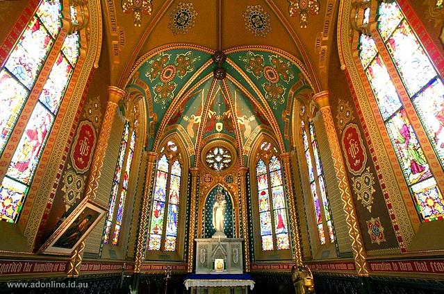 st francis 39 church melbourne the ladye chapel at st. Black Bedroom Furniture Sets. Home Design Ideas