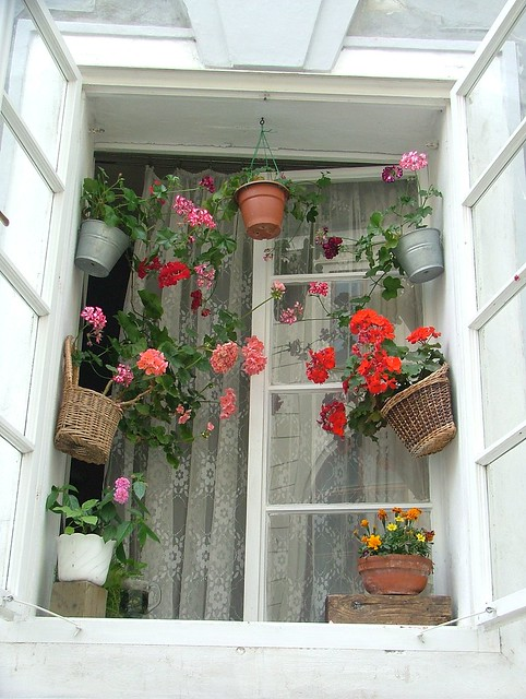 Cottage window in Prague, Czech Republic