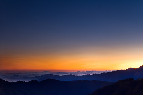 369山莊的日出 / Sunrise at the height of 3100m
