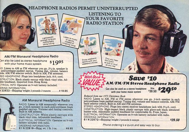 1976 [Sears] Wishbook Page Headphone Radios