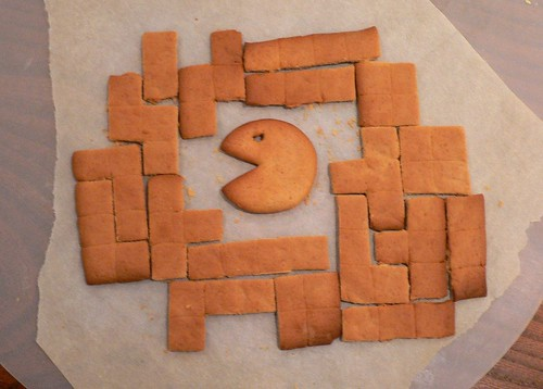 Joakim's gingerbread tetris (with pac-man)