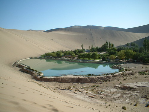 dunhuang - crescent moon lake