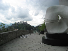The terrace at the Museum of Modern Art, Salzburg