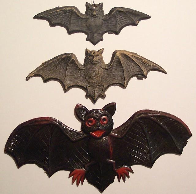 """3 Vintage German Halloween Diecut Bats """"Vintage Halloween ..."""