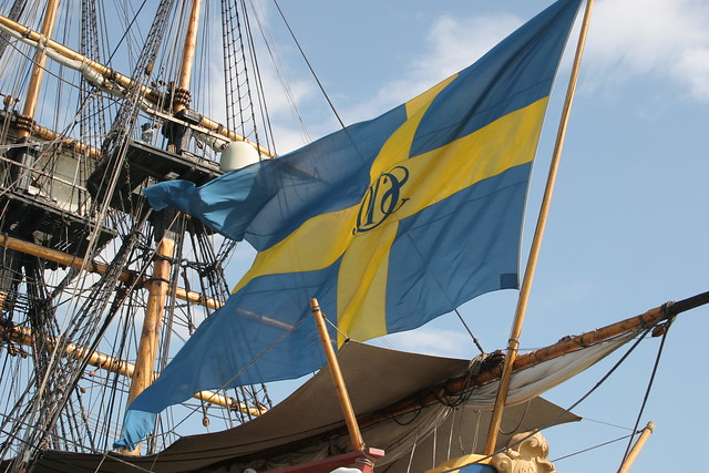 Swedish Flag flying high